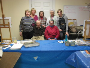 (Seated) Dean Waite, Diana Lord             (Standing left-right) Nancy Quinn, Marsha Evans, Carole Jeffries, Mary Johansson, Jessica Binstock               (Not shown) Rob Bavier, John Smuda, Florence Scoville