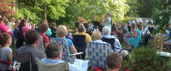 Annual Marlborough Elementary School Student Band Concert on the lawn of the Marlborough Arts Center