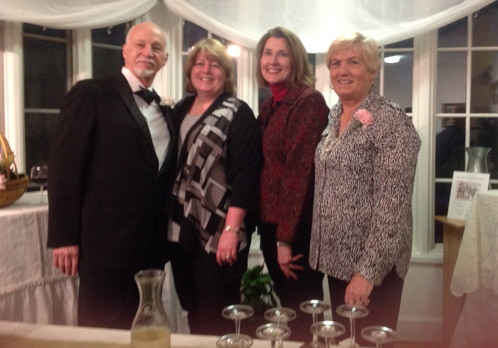 Left to right:  Bob Terase,  founding member Arts Center, Amy Traversa, First Selectwoman of Marlborough, Robin Green, State Representative, Fran Terase, founding member and President Marlborough Arts Center.