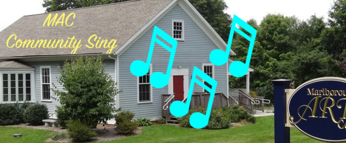 Marlborough Arts Center Pot Luck and Community Sing, Wednesday, July 12th 7pm