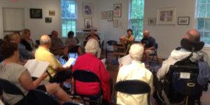 community sing at MAC