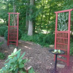 Marlborough Arts Center Art Park Bob Jeffries hand-crafted matching gate