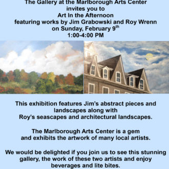 Art in the Afternoon featuring works by Jim Grabowski and Roy Wrenn